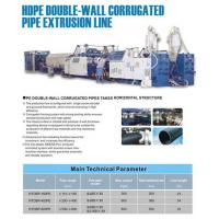 Buy cheap Double wall corrugated pipe line product