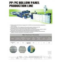 Buy cheap PP/PC hollow panel extrusion line product