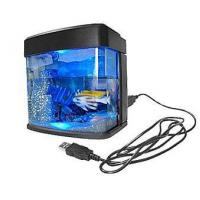 Buy cheap Mini USB Desktop Aquarium Fish Tank with Light from wholesalers
