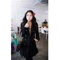 Buy cheap Outer‖ A1836#China cheap fashion dress wholesale Double-breasted coat -black from wholesalers