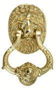 Buy cheap 4 3/4 Inch Large Ornate Lion Door Knocker (Unlaquerred Brass) from wholesalers