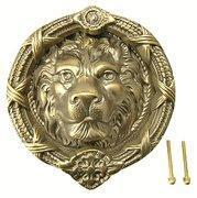 Buy cheap 9 5/8 Ribbon & Reed Lost Wax Cast Lion Door Knocker (Antique Brass Finish) from wholesalers