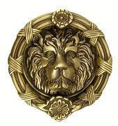 Buy cheap Ribbon & Reed 5 1/4 Inch Solid Brass Lion Door Knocker (Antique Brass Finish) from wholesalers