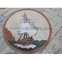 Buy cheap Medallion Sailing Boat Marble Medallion from wholesalers