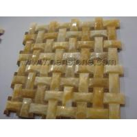 Buy cheap Mosaic Yellow Onyx Mosaic Tile from wholesalers