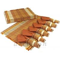 Buy cheap Set of 6 Knitting Bamboo Placemats , Coasters and Napkins from wholesalers
