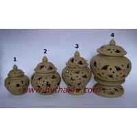 Buy cheap CERAMIC SANDSTONE ITEMS INCENSE FRETWORK POT from wholesalers