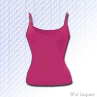 Sleeveless t-shirt with thin straps