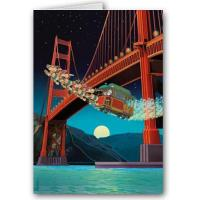 Buy cheap Christmas Cards Trolly Sleigh & Golden Gate Bridge from wholesalers