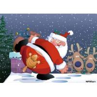 Buy cheap Christmas Cards Angry Cat Funny Christmas Card from wholesalers