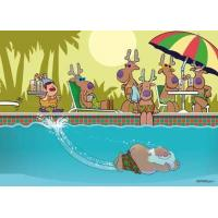Buy cheap Christmas Cards Funny Pool Christmas Card from wholesalers