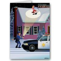 Buy cheap Christmas Cards Funny Police Law Enforcement Christmas Card from wholesalers