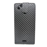 Buy cheap Carbon Fiber Leather Flip Case For Sony ericsson X12 product