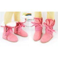 Buy cheap Dollfie MSD Shoes 2-Way Suede Velvet Fur Boots Pink from wholesalers