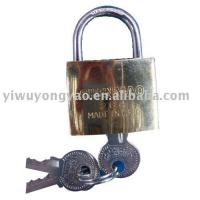 Buy cheap golden plated padlock MTL-067 from wholesalers