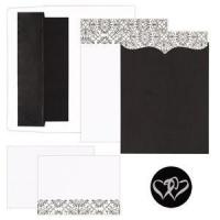 Scroll Pattern & Pocket Invitation Kit of 25