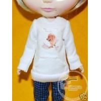 Buy cheap Blythe Outfit White Hip Hop Long-Sleeve Tee Dog from wholesalers