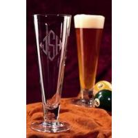 Buy cheap Monogrammed Crystal Euro Pilsner (set of 4) from wholesalers