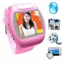 Buy cheap MQ007 Quad band 1.5 Touch Screen with steel wrist band Watch Mobile Phone from wholesalers