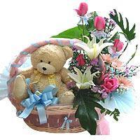 Mixed Flowers & Teddy