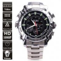 Buy cheap 8GB Waterproof 1080P IR Stainless steel Spy Watch DVR Support Night Vision product