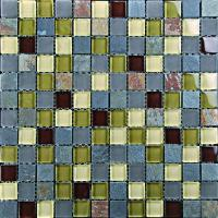 Buy cheap VC032Slate Stone And Glass Mosaic from wholesalers