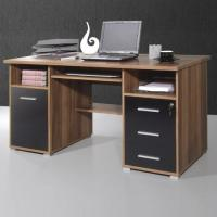 Buy cheap Ergonomic Walnut/Black Computer Workstation, 484-87 [484-87] from wholesalers