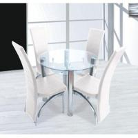 5 Piece Glass Dining Set Quality 5 Piece Glass Dining
