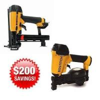 Buy cheap Combo Kits Bostitch ROOFKIT2 1-3/4-in Roofing Nailer and 18 Gauge Cap Stapler Combo Kit from wholesalers