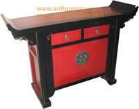 Buy cheap Table TB-168p3 Chinese Red & Black Lacquer Altar Table product