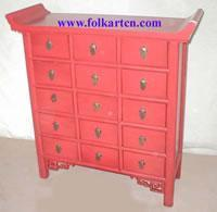 Buy cheap Bedside Cabinet SC-221p2 Chinese 15 Drawer Red Altar Table from wholesalers