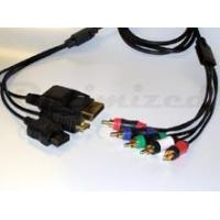 Buy cheap 4 in 1 Component Cable For Wii, Xbox 360, PS3 & PS2 - Black from wholesalers