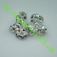 Buy cheap Rondelle Rhinestone silver color, 8mm from wholesalers
