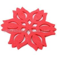 Buy cheap Korean cute felt insulation mats | coasters | bowls mats | Lotus 10 fitted from wholesalers