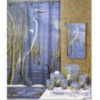 Buy cheap Fabric Shower Curtains Foggy Morning Egret Wildlife Shower Curtain S4503 from wholesalers