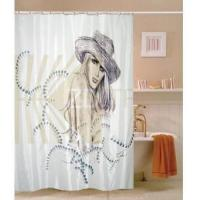 Buy cheap Fabric Shower Curtains Sketch Beautiful Girl Fabric Shower Curtain M2801 from wholesalers