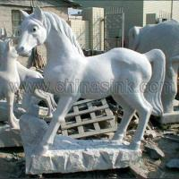 Buy cheap horse stone animal sculpture 82 from wholesalers