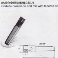 Buy cheap Crbide brazed-on end mill with tapered shank from wholesalers