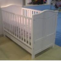 Buy cheap Tutti Bambini Jake FixedSide Cot Bed With Drawer in White Finish from wholesalers