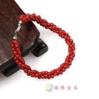 Buy cheap natural red coral beads bracelet from wholesalers