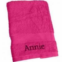 Buy cheap Personalised Hot Pink Bath Towel from wholesalers