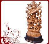 Buy cheap White Wood Dancing Shiva Statue from wholesalers