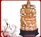 Buy cheap Indian Wood Carved Shiva Idol from wholesalers