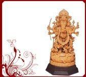 Buy cheap White Wood Vinayaka Sculptures from wholesalers