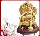 Buy cheap Whitewood Carved Ganesh Statue from wholesalers