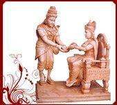 Buy cheap Goddess Annapurneshwari Wood Statue from wholesalers