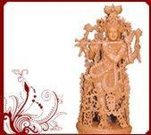Buy cheap Sandalwood krishna statue from wholesalers