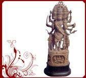 Buy cheap sandalwood panchamukha hanuman statue from wholesalers