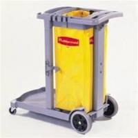 Buy cheap Flexi 2000 Cleaning Cart w/Yellow Vinyl Bag - Gray from wholesalers