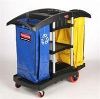 Buy cheap Double Capacity Black Cleaning Cart - 51.75 in. x 22 in. from wholesalers